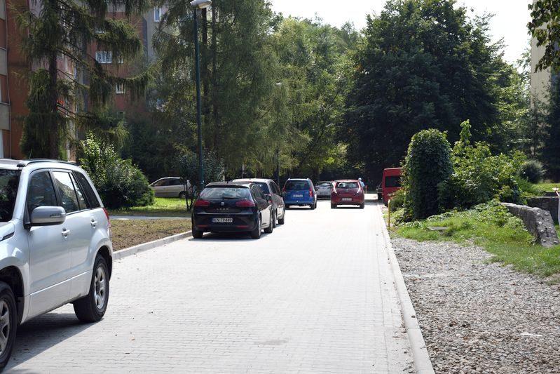 Nowo wyremontowany dojazd od ul.Lwowskiej na osiedle Gołąbkowice